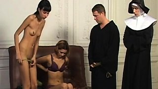 Russian slave spanking and cumshot