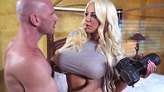 Premium blonde enjoys harsh treatment to her shaved peach