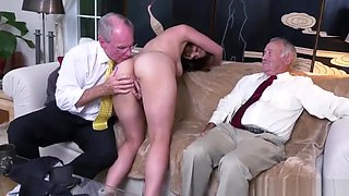 Hard sex with daddy Ivy impresses with her fat boobies and ass
