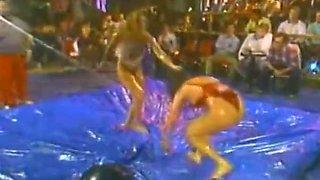 Quisha Page Oil Wrestling