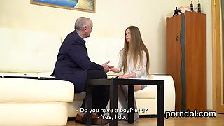 Erotic schoolgirl is seduced and nailed by older teacher60yI