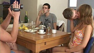 Teen foursome filmed by a friend