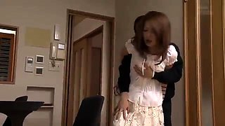 Alluring Japanese wife gets the hard pounding she desires