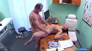 Naughty doctor bangs his lovely patient Eva Ann in his office