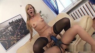 Super thick brutal dildo is a real pussy ripper