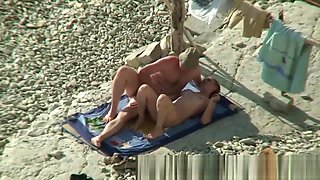 Couple Share Hot Moments On Nude Beach