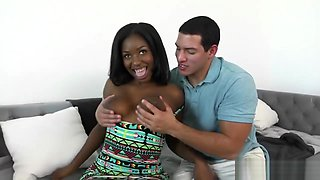 A Gorgeous Big Ass Ebony Babe Camille Amore Gets He
