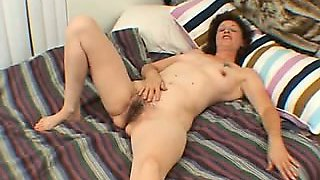 Unsightly and oldish mom strips then sucks a big dick