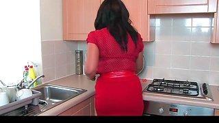 Donna Ambrose AKA Danica Collins - Kitchen cucumber