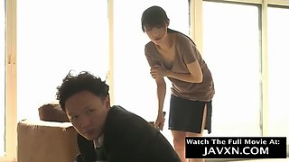 Shy japanese teen fucked by perv boss