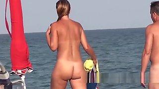 Hairy trimmed pussy amateur nudist females voyeur beach spy