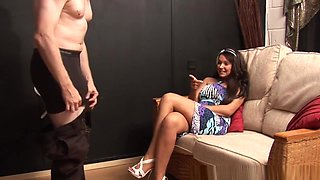 Cfnm Teen Babe Stroking And Tugging Dick