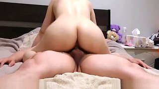 Young Asian Athlete Exercise in Bed Fucked by a Long Lasting Hard Cock