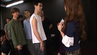 Pretty Japanese lady can't get enough hot sperm on her face