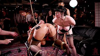 Aiden Starr and her slutty friends abused in bondage