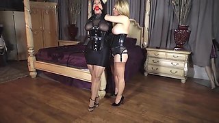 Sexy lesbian sub girl and her mistress