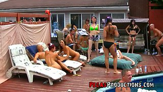 Pool party for birthday girl Alyson Queen ends up with crazy orgy