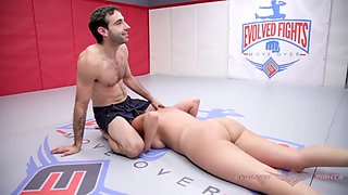 Busty charlotte cross mixed nude wrestling vs jake adams