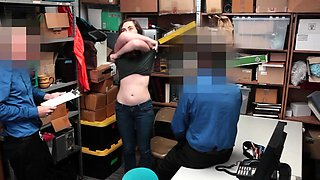 2 LP officers dominate and fuck a busty brunette shoplifter