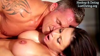 Bigtits sexy brunette milf hardcore fuck on bed