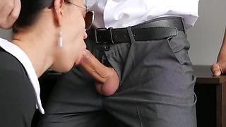 Secretary fucks her boss