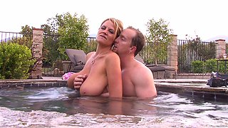 Amazing fuck in a jacuzzi with blonde vixen Kelly Madison