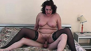 This old horny Mom Gets a really young piece of meat! Have