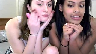 Two sexy college girls teasing flashing and getting naked on cam