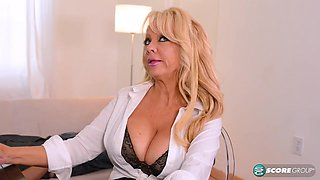 Busty MILF's first time - 50PlusMilfs
