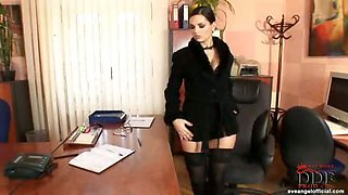 Slinky Secretary Eve Angel