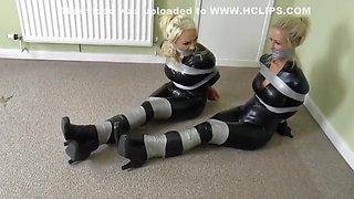 Two cat burglar bound and gagged