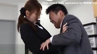 Japanese office guy caughts masturbating at work