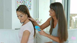 Straight haired alluring lesbian Victoria Velvet loves eating and fingering pussy