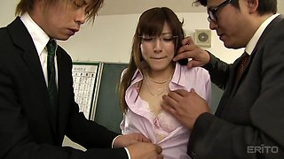 kanako iioka is shamed by her boss in school