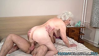 Senior slut gives head