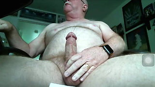 63 year old chubby daddy with big hard cock