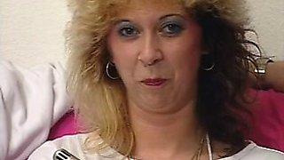 Mature Pierced Blonde in Stockings