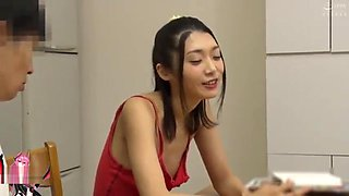 Japanese sister downblouse and fucked