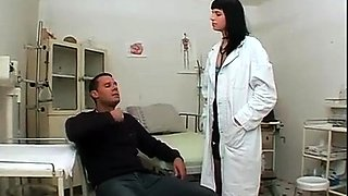 Slutty brunette doctor gets her ass stuffed with hard meat