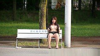 Japanese chubby girl public flashing slide show5