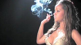 Horny homemade Smoking, Black and Ebony porn scene
