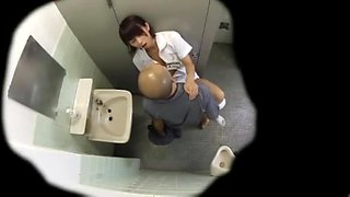 Nurse in hospital toilet