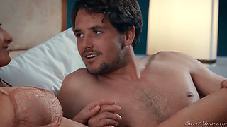 Silvia Saige Gets Rammed on the Family Bed