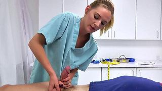 Two nurses help out a patient
