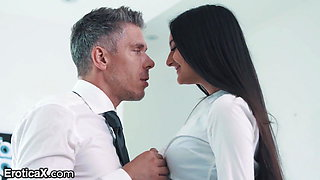 Sexy Latina Eliza Ibarra Has Passionate Affair With Boss