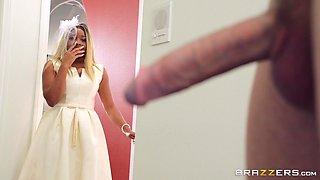 Slutty ebony Nina Rivera ass fucked by future father-in-law on wedding day