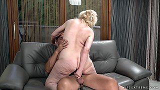 Chubby old woman Nanney is having an affair with young Alphonse