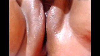 Perverted amateur video of amateur bitch flashing her shaved pussy