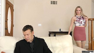 Insatiable blonde Riley Reyes is craving for a huge load of sperm after crazy anal pounding
