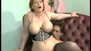 Sexy redhead mature Calliste came to serve a notice of foreclosure